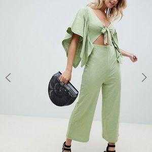 Green Asos Kimono Sleeve Jumpsuit